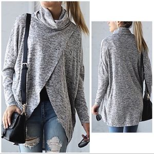 Cross over cowl neck tunic